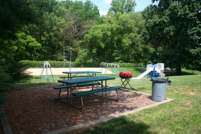 One of the pool's picnic areas